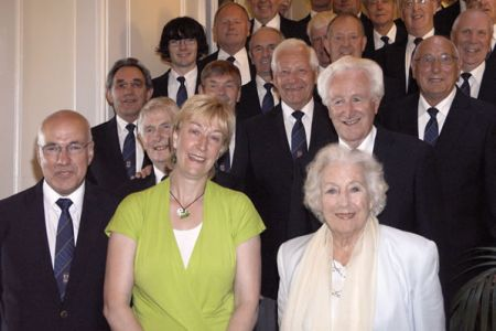44.Photo call with Vera Lynn in the Grand Hotel Brighton. Dame Vera performs with the Choir in We'll Meet Again due to be released on the choir's 4th CD, Voices of the Valley - Memory Lane due out in November
