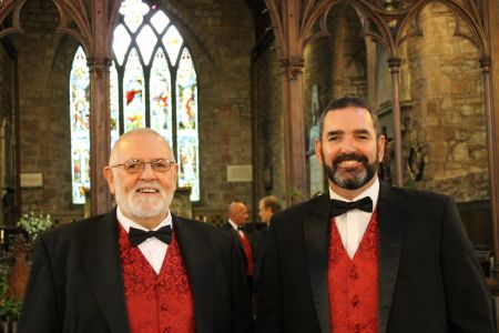 49b.One of our Father and Son pairs Darren and Merfyn ready to perform at the wedding in Pontesbury