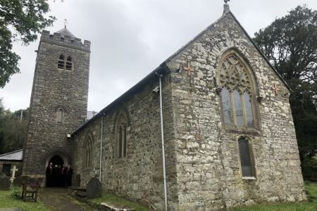 10A St Pedrog church Llanbedrog the venue for the wedding of Joanne and Steven 27.04.19