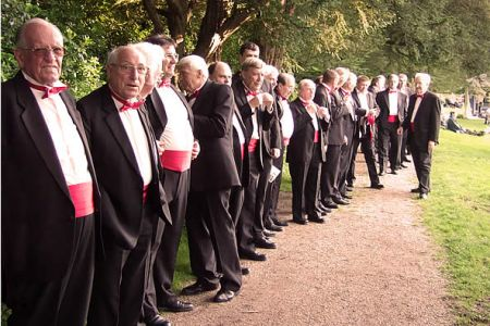 30.Lining up for the Powis Castle Concert on the 7th July