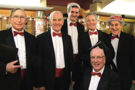 72.Barry, Len, Wyn, Merfyn, Martin and Dave at Tatton Park ready for their Christmas Concert. 10th December