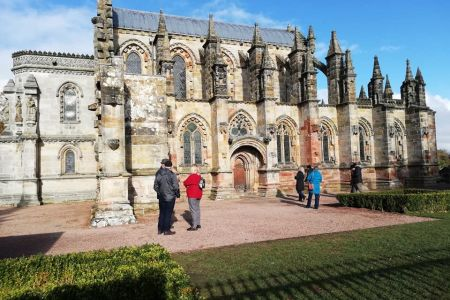 4a. Rosslyn Chapel the final venue for the choirs mini tour of Scotland.