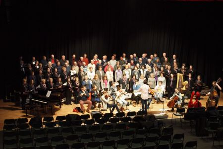 18.Rehearsal with the New Sinfonia Orchestra, Cantorion Rhos and Lleisiau Clywedog
