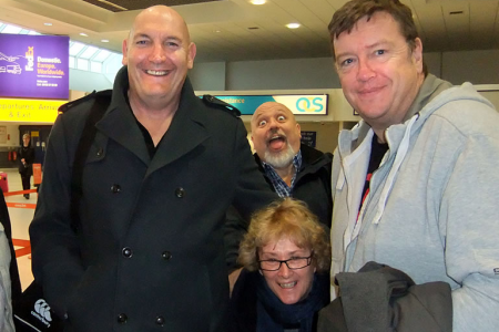 Wayne, Roger, Julie and Paul at Belfast International Airport