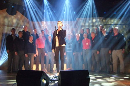 Rehearsal with Hayley Westenra for We'll Meet Again on the set of the Titchmarsh Show broadcast on the 16th of November