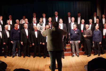 13.Rehearsal in the Heswall Hall & Theatre for a concert for the Heswall Rotary Club - 20th April