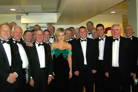 With Katherine Jenkins on the Christmas Parkinson Show