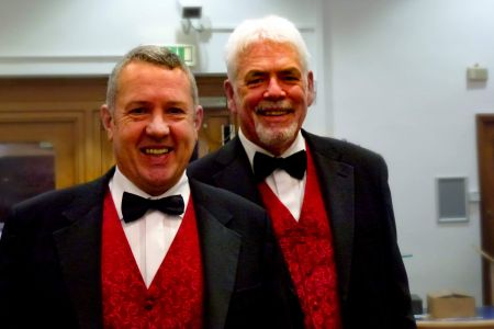 66.Ray and Adrian enjoying a laugh before our Annual concert 17/11/18