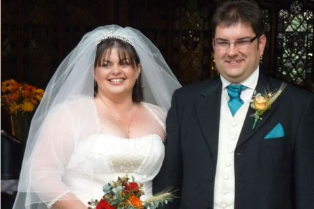 57.Elen and Colin Roberts Wedding at St Collens Church Llangollen on the 1st of November