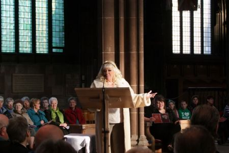69.Julie Goodyear MBE (Bet Lynch from Coronation Street) delivers A Politically Correct Christmas
