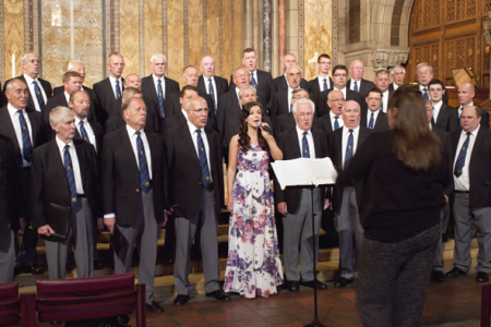 Margaret Keys performing You'll Never Walk Alone with the Choir at St Bart's - 23rd August.