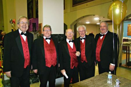 05.Trevor, Dave T, Ron, Dennis and Paul at St Ambrose Church Speke  for a concert with The Mersey Wave Choir - 19th February