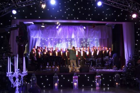 Rehearsal in the Blackburn Hall in Leeds for the ITV programme Text Santa broadcast on Christmas Eve when the Choir perform a number with Russell Watson - 23rd December