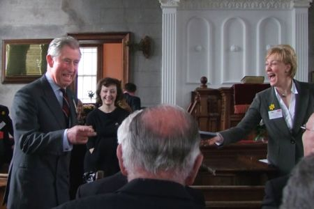 14.Prince Charles congratulates the Choir on its performance