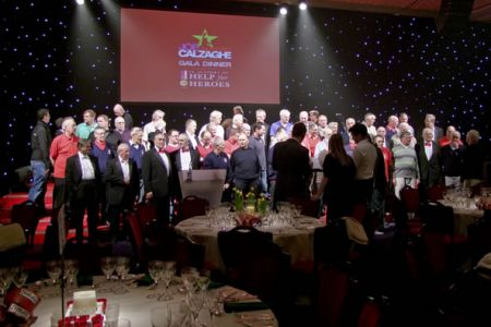 14.Practice in the Grosvenor House Hotel, Park Lane, for the Joe Calzaghe Help for Heroes Gala Dinner - 22nd March