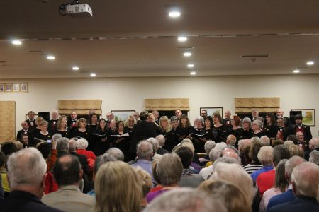 05E. lleisiau'r afon in concert as our guests at Oswestry golf club 02/03/19