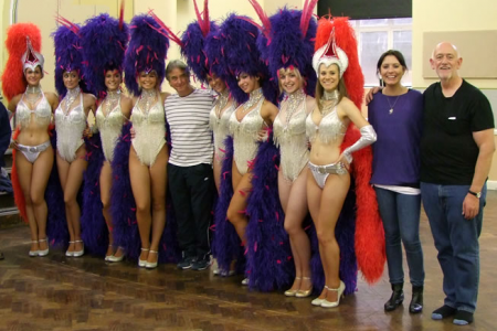 Dancing Girls with the Finale Director and Musical Director