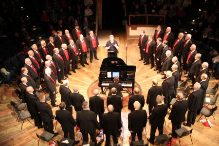 21b. The Choir perform in the round at the New Vic theatre for their annual concert in front of an amazing crowd.