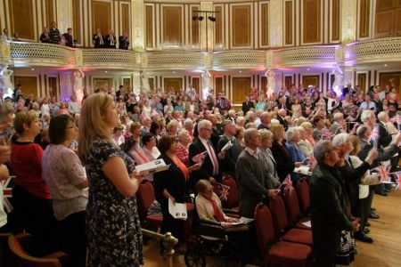 58.An enthusiastic audience in St George's Hall
