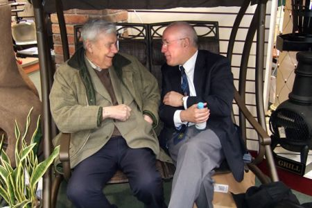 13.Ann's Dad and Dave Jones sharing a laugh - Moreton Park Garden Centre - 9th of March