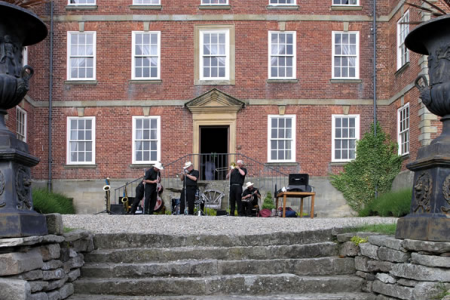 Jazz Band on the Trevor Hall Forecourt