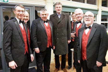 09.Choristers with Daniel Kawcznski, MP for Shrewsbury