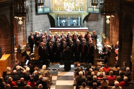 54.On stage at the Ladies Chapel at Liverpool Anglican Cathedral