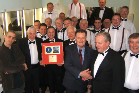 The Choir is presented with a Gold Disk on the 28th of November