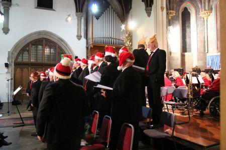 80e. Christmas hats at Trinity church Oswestry