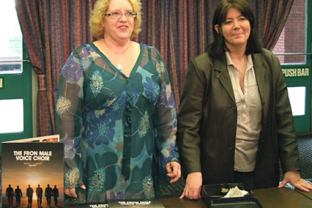 Gill and Ann at the Sales Table