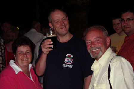 Karen with Steve and John (4 star) Steve proposed to Karen and she accepted - what a trip !