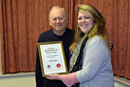 10.Cyril receives his Long Service Award at the February Committee Meeting - 6th February
