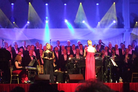 On-stage with Lesley Garrett