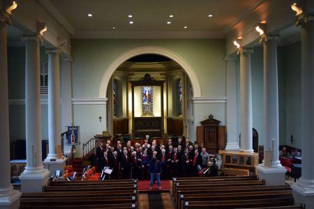 Rehersal as St Mary's