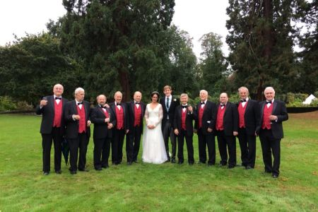 49.The Choir With Adrian and Rowan after their wedding in Pontesbury