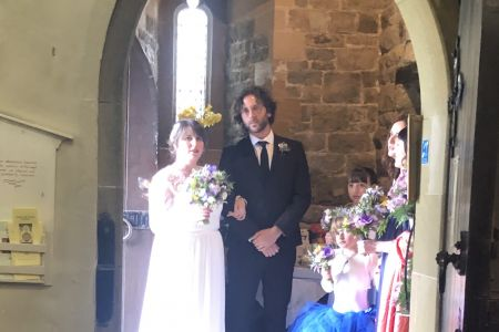 10C The Bride arrives at St Pedrog church 27.04.19