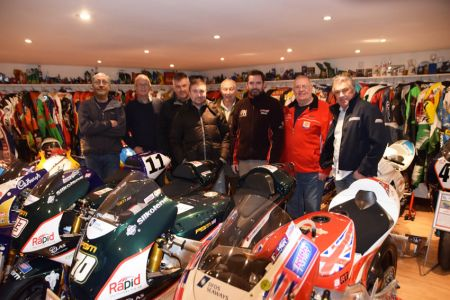 An evening with Phil Morris's collection of racing motorcycles and memorabilia