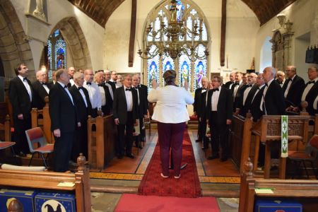 86.The Choir at Nicola, Tudor's (1st Tenor) daughter and Alex's Wedding in Llansilin Church