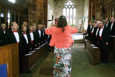 18.Leigh conducting the choir at at the wedding of Emma and Adam