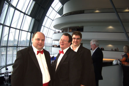 Neil, Phil and Colin Front of House at the Sage