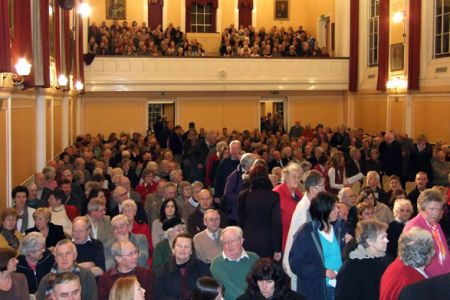 04.A sellout audience chasing chairs at the Alington Hall, Shrewsbury School