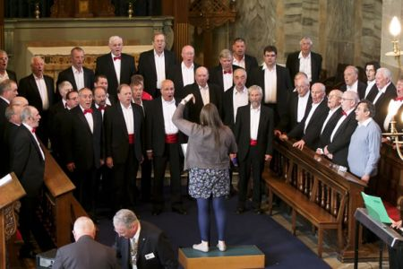 21.Practice at St Alkmunds Church - Leigh's first full concert with the Choir - 17th April