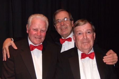 60.Bob Evans, Trevor Wilford and Tom Clayton backstage in the Wm Aston Hall, Wrexham for the Voice and Brass concert with Fine Arts Brass 21st November