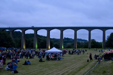 44.At Pontcysyllte for the celebrations to launch the Canal and River Trust