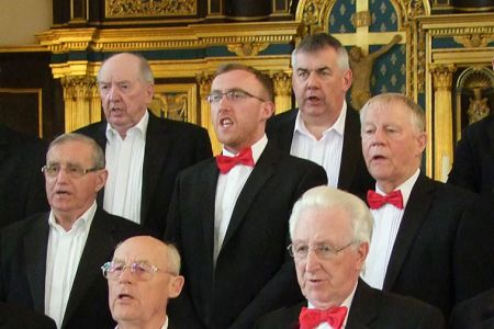 24.Simon Griffiths (centre) joins the Choir as a full member in the 1st Bass section - 18th April
