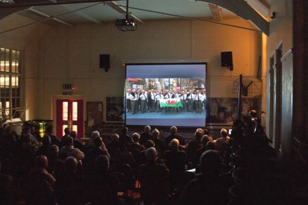 Viewing the ITV Wales Documentary made by Mike Talbot about the Choir's trip to New York - 17th November