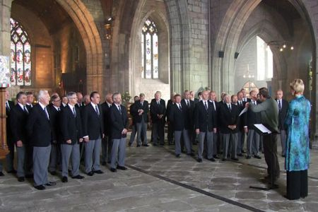 47.Recording Abide with Me at St Asaph Cathedral.for broadcast on the BBC's Songs of Praise