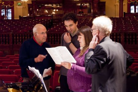 51.Discussing the lighting sequence for The Creation with the Royal Hall Technician 18th September